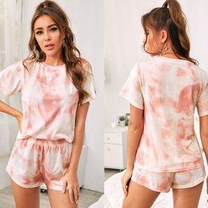 Other - Tie Dye Pajamas - BLUSH